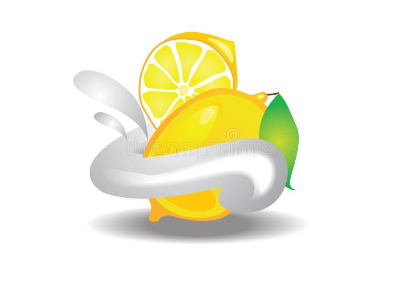 奶油色柠檬 皇族释放例证
