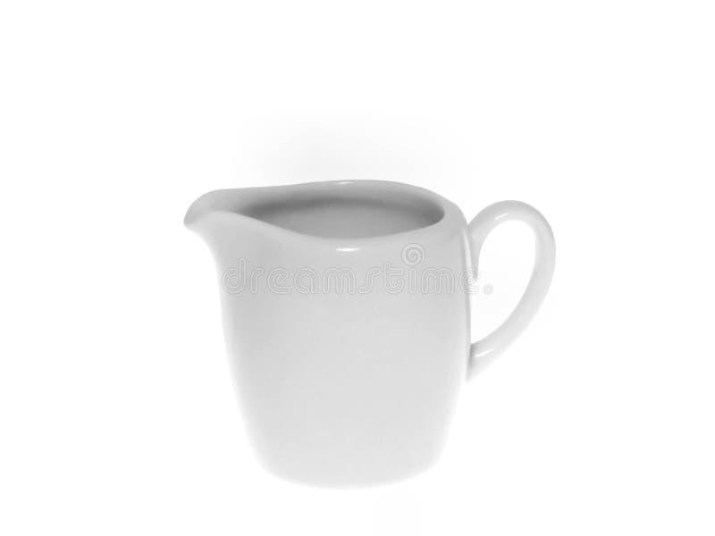 奶油色水罐 库存图片