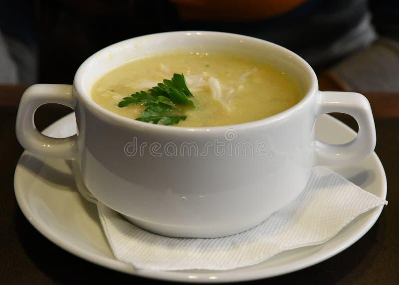 奶油色汤 免版税库存照片