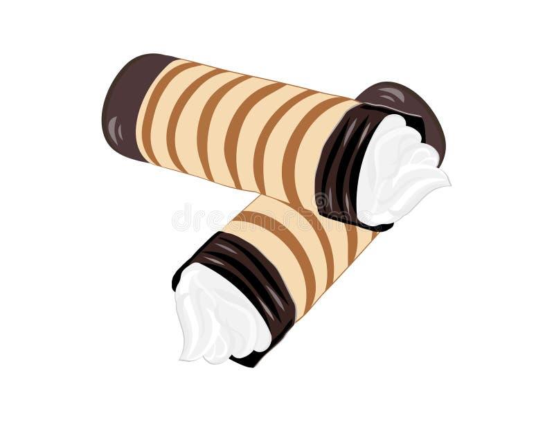 奶油色管二 向量例证