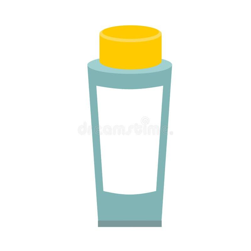 奶油色管 包装化妆用品的 泡沫组装模板 向量例证
