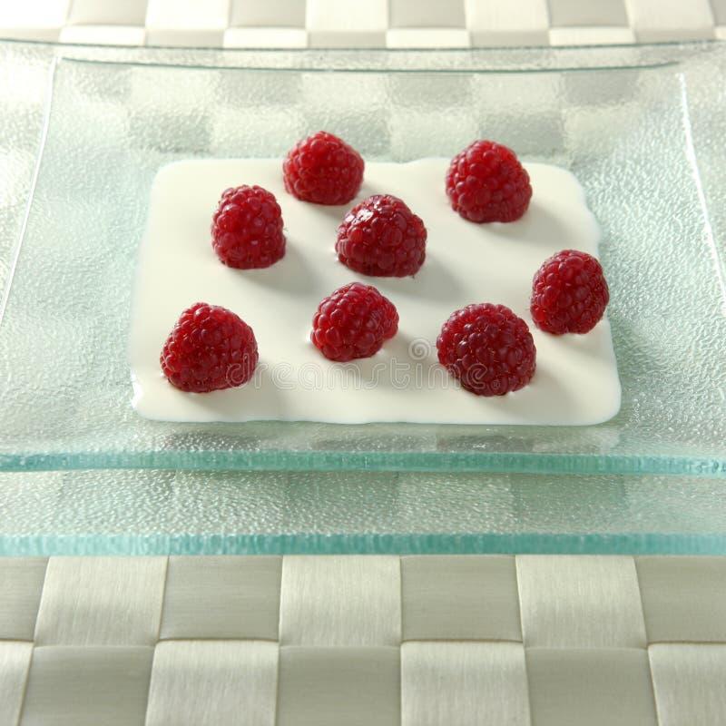 奶油色莓 图库摄影
