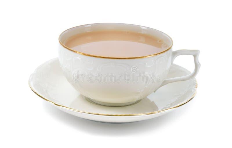黑奶茶在瓷杯子的。 库存图片