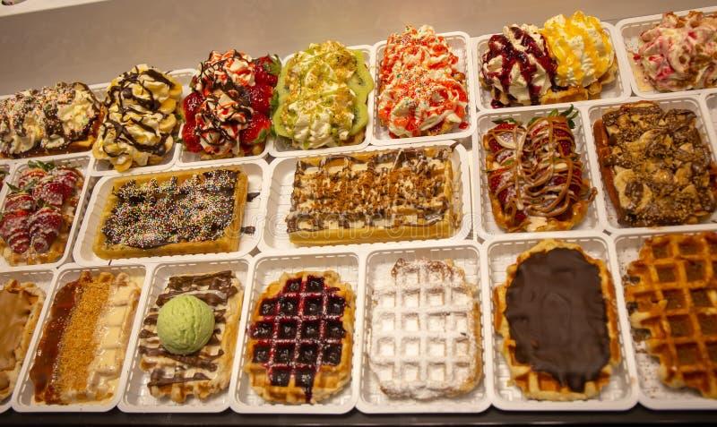 奶蛋烘饼在布鲁塞尔 最好  免版税库存图片