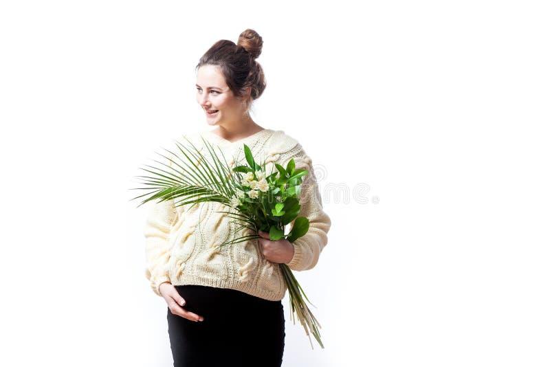 她的前次怀孕的h妇女 免版税图库摄影