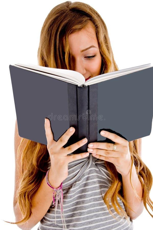 她的笔记本读取学员 库存图片