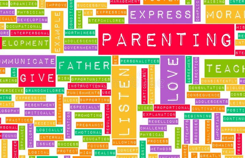 好做父母 向量例证