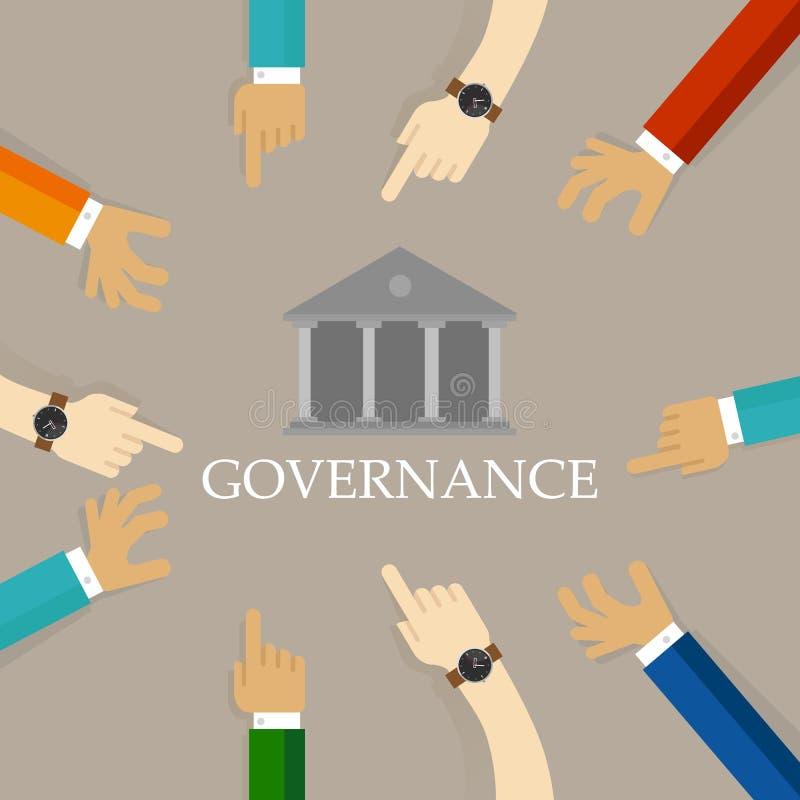 好公司管理方法概念 有责任的组织透明管理标志用手 向量例证