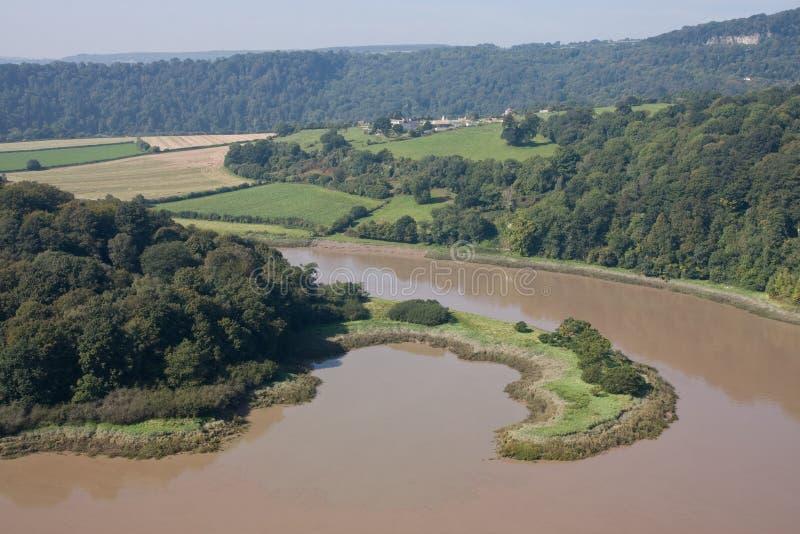 好半岛河形状的Y形支架 库存照片