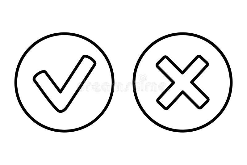 好和取消象传染媒介网按钮 免版税图库摄影