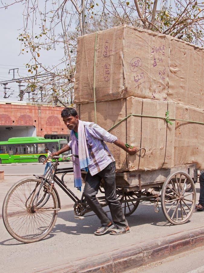 好在运送中,德里 免版税图库摄影