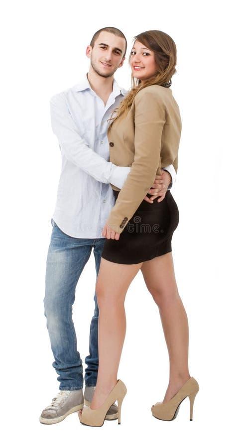 好夫妇拥抱 库存图片
