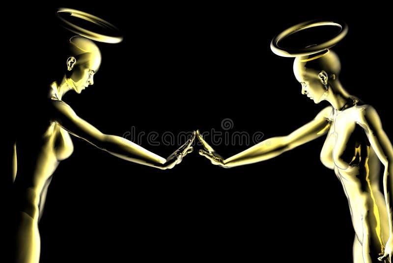 好奇的天使 免版税库存照片