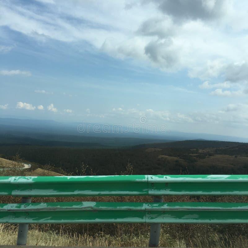 好山顶视图和风景在长白山 库存照片
