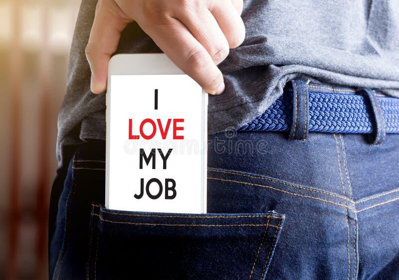 好工作助理我爱我的工作商人和女实业家 免版税库存图片