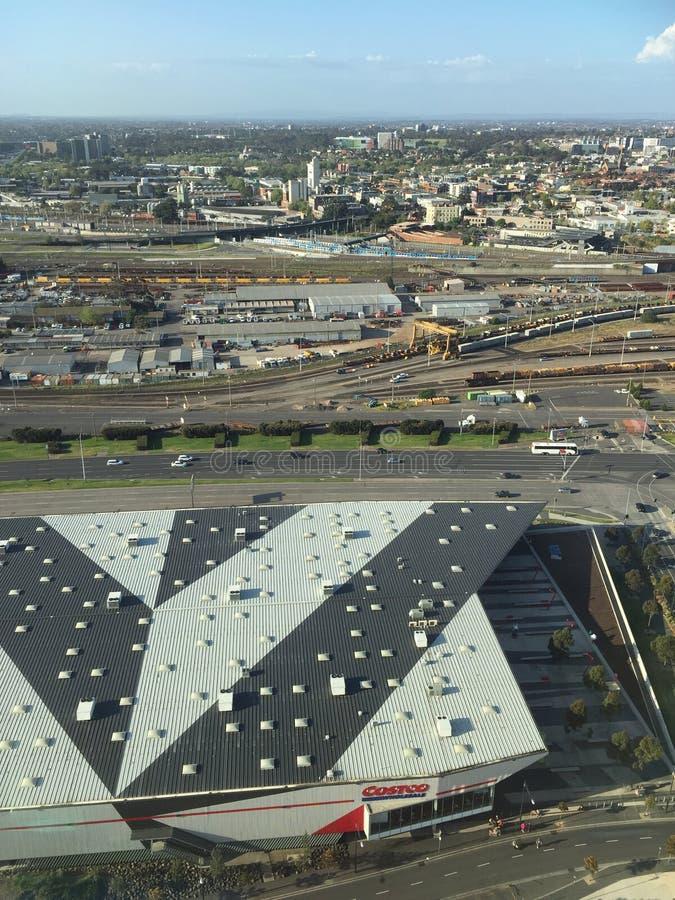 好市多港区在墨尔本市 免版税图库摄影