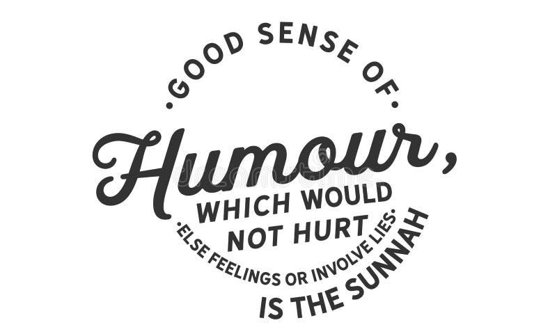 好幽默感,不会伤感情也不会介入谎言是sunnah 向量例证