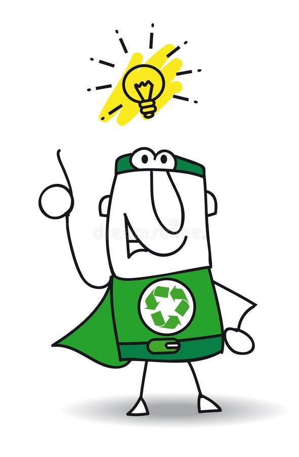 好想法超级回收的英雄 向量例证