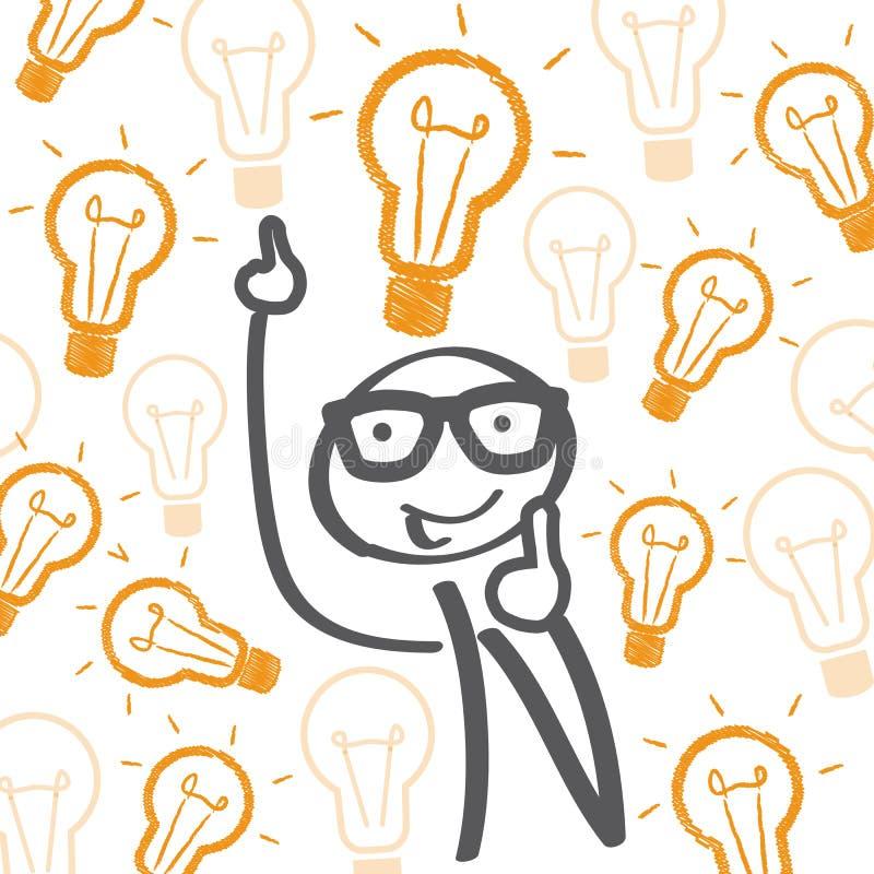 好想法-电灯泡 向量例证