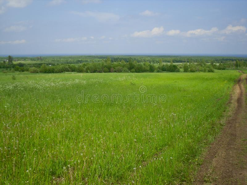 好日子在村庄 自然在俄罗斯 免版税库存图片