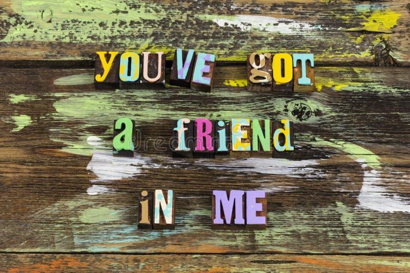 好朋友友情欢迎朋友谢谢 库存照片