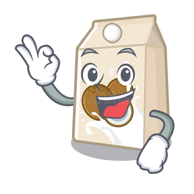 好椰奶隔绝与字符 皇族释放例证