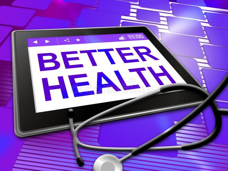 更好的健康表明防疫和最好 库存例证