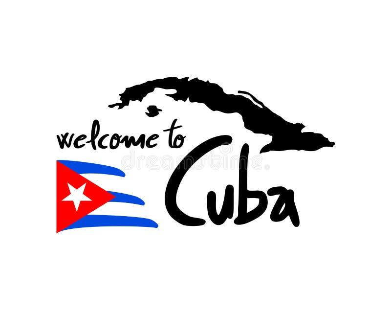 好的古巴标志 库存例证