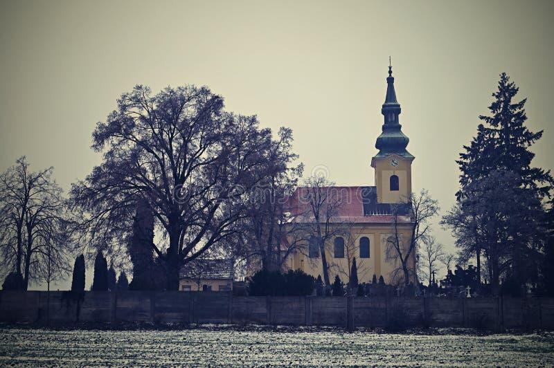 好的古老教会 Troubsko -南摩拉维亚-捷克 假定教会novgorod 免版税库存照片