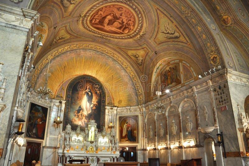 好的妙语教堂de蒙特利尔贵妇人notre secours 库存照片