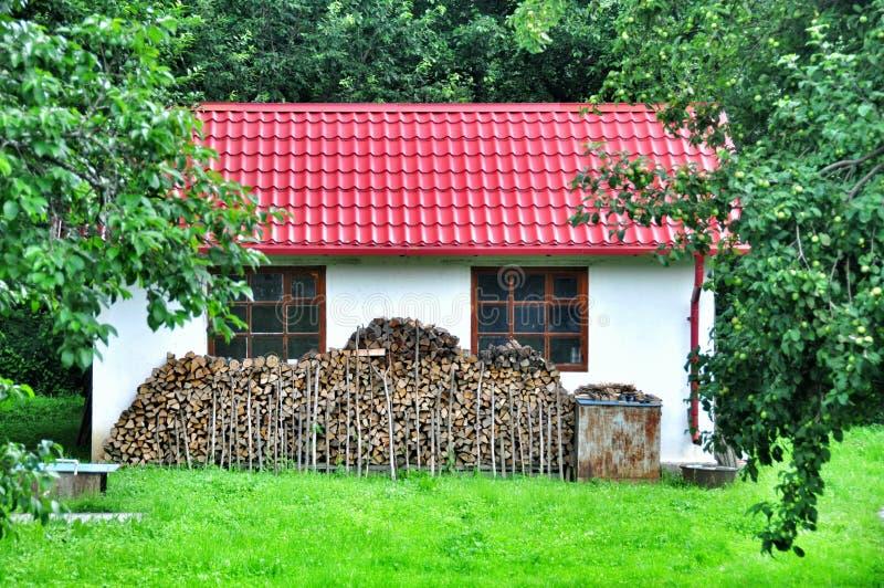 好的房子在村庄 免版税库存照片