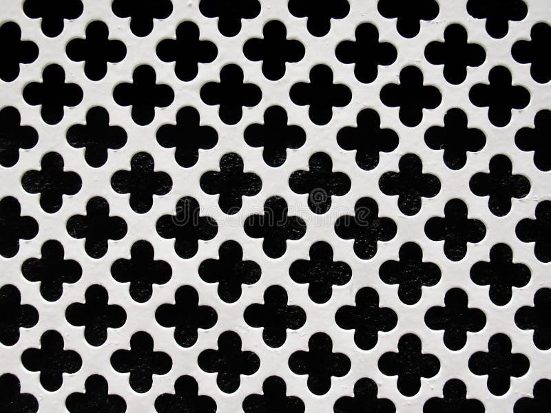 好的栅格滤网黑白背景,与概略的纹理的金属 向量例证
