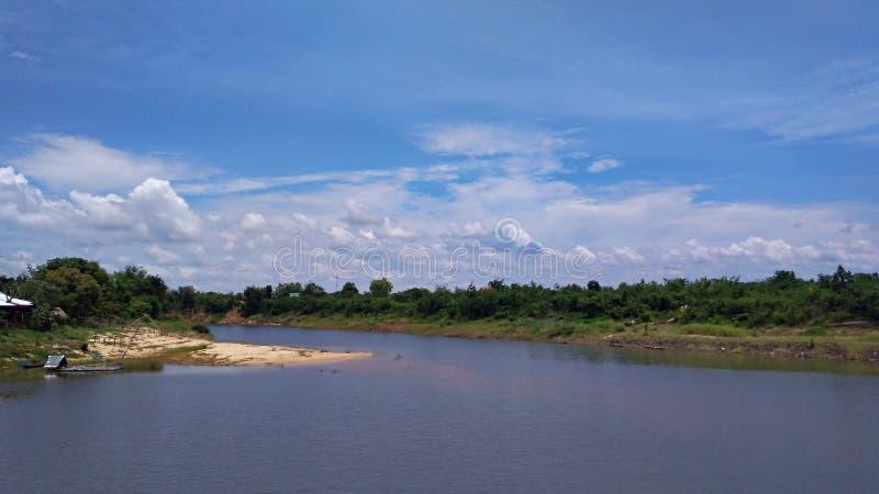 好的河视图在亚洲 库存图片