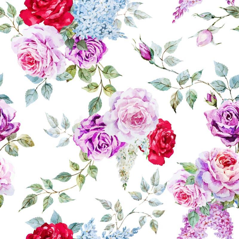 好的玫瑰色样式 皇族释放例证