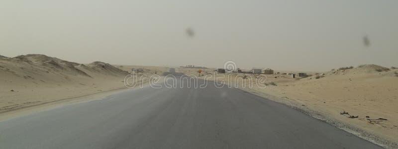 好的看法在沙特阿拉伯沙漠 库存照片