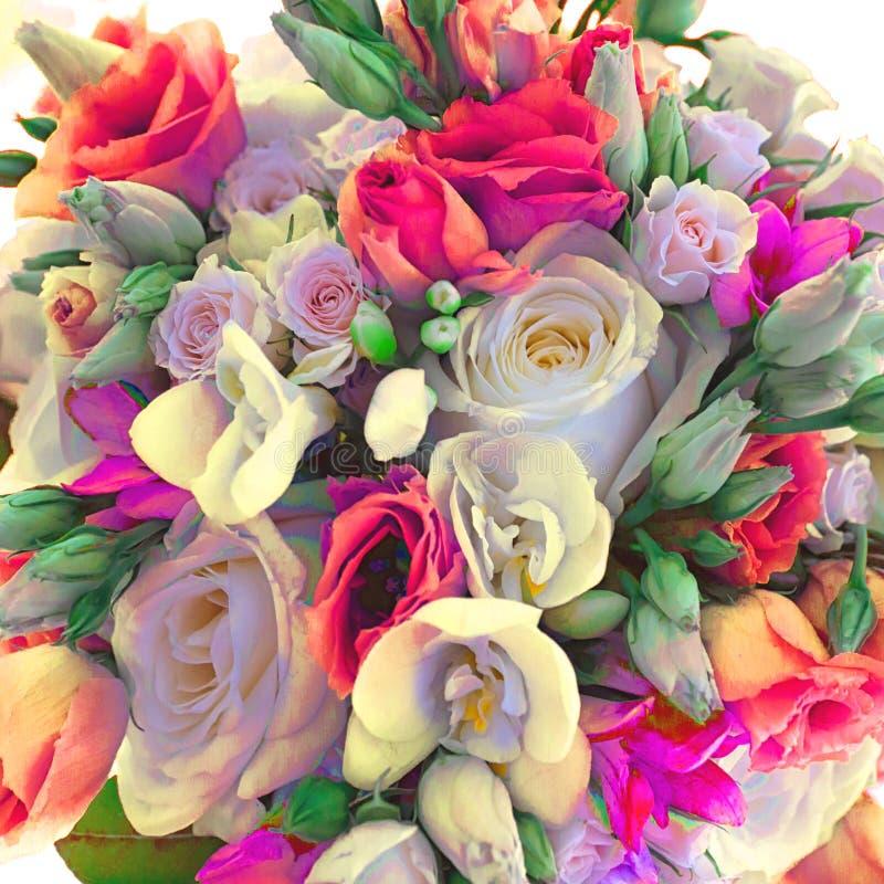 好的花花束 花花束,拷贝空间 问候的空白 免版税库存图片