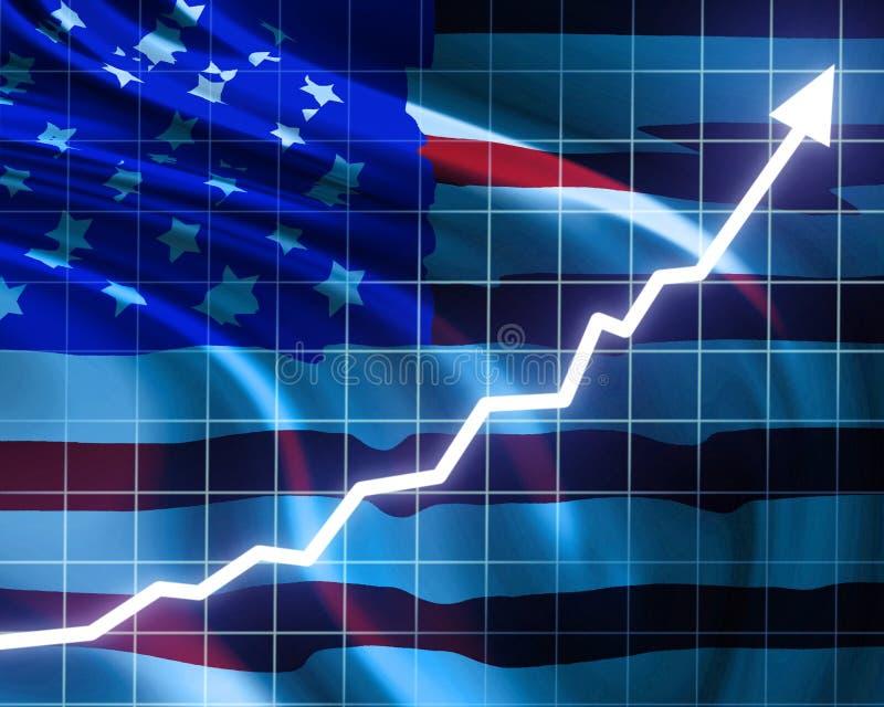 好经济增长 皇族释放例证