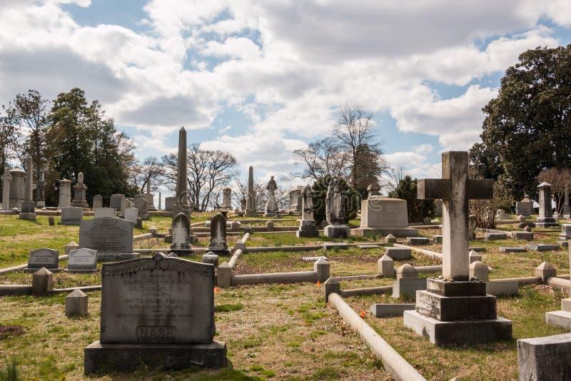 好莱坞公墓里士满弗吉尼亚 免版税库存图片