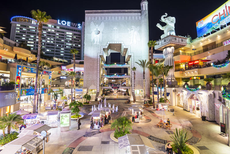 好莱坞和高地复合体 库存照片