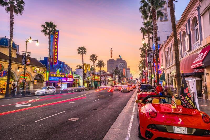 好莱坞大道加利福尼亚 库存照片