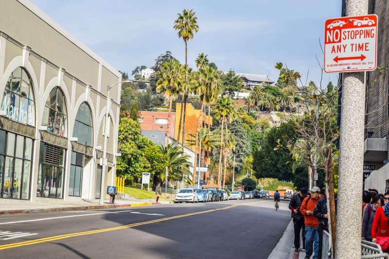 好莱坞大道的好莱坞大道视图Grauman的中国剧院 免版税库存照片