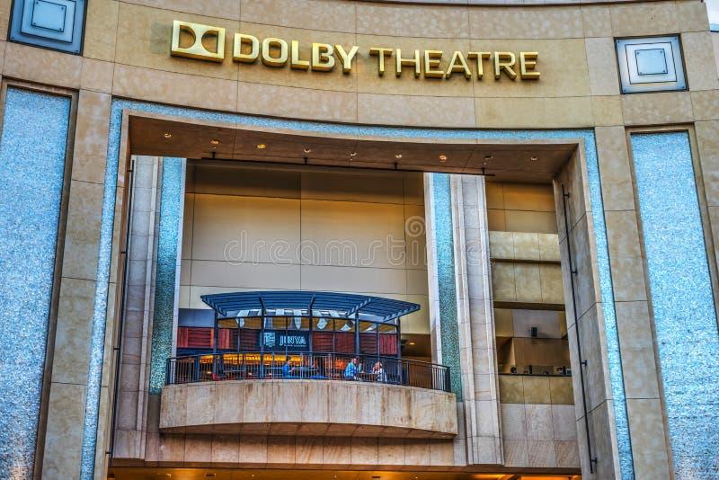 好莱坞大道的杜比剧院 图库摄影