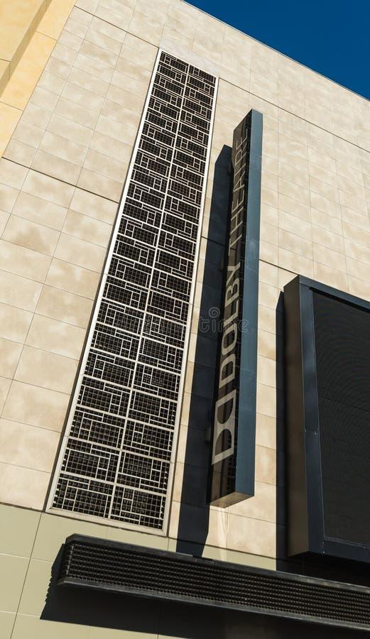 好莱坞大道的杜比剧院 免版税图库摄影