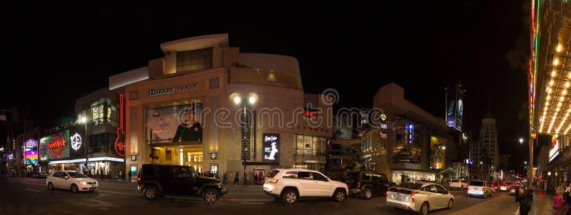 好莱坞大道的杜比剧院 库存图片
