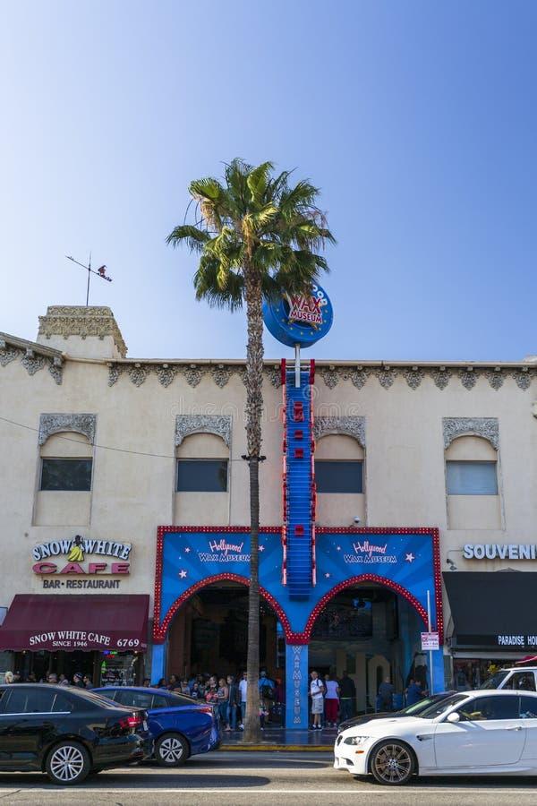 好莱坞大道的,好莱坞,洛杉矶,加利福尼亚,美国,北美洲蜡博物馆 免版税库存照片
