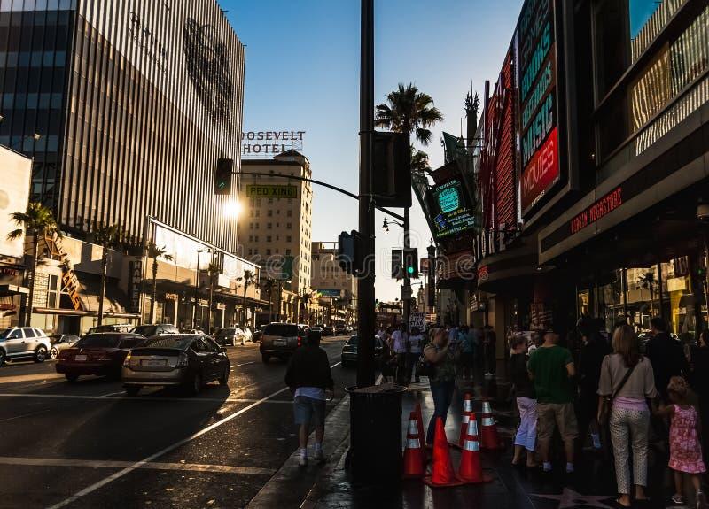 好莱坞大道,洛杉矶,加利福尼亚 库存照片