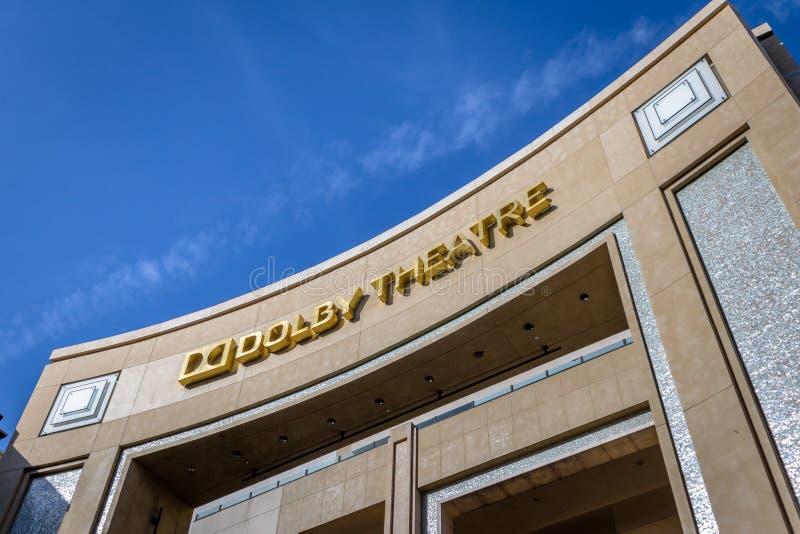 好莱坞大道-洛杉矶的,加利福尼亚,美国杜比剧院 库存图片