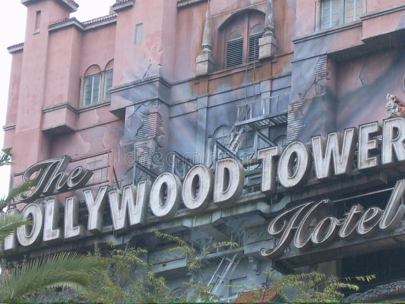 好莱坞恐怖塔 免版税图库摄影