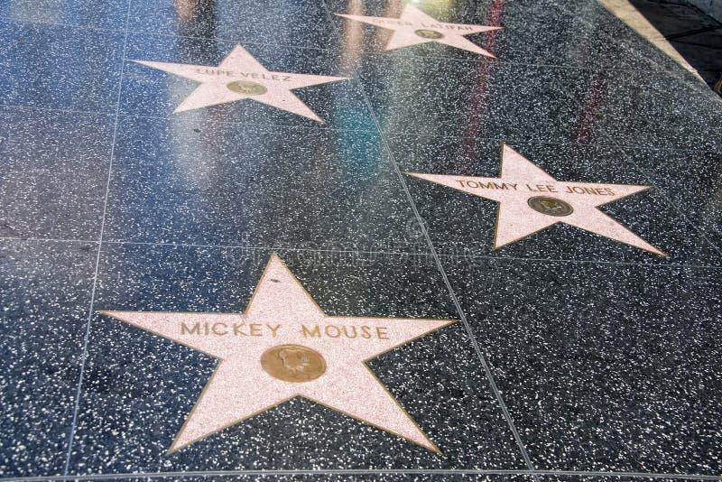好莱坞星光大道米老鼠 库存照片