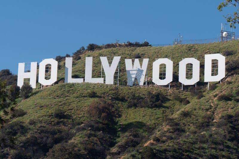 好莱坞签到好莱坞-加利福尼亚,美国小山- 2019年3月18日 免版税库存图片